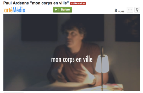 Video forever edition 9 mon corps en ville for Architecture emotionnelle